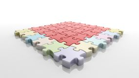Square solved jigsaw puzzle Stock Photography