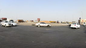 Square in the southern of Jeddah city at afternoon stock video footage