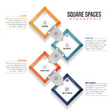 Square Spaces Infographic Royalty Free Stock Photos