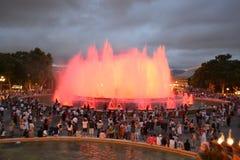 Square of Spain in Barcelona, Catalonia. Stock Photo