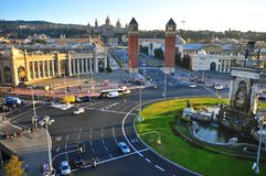 Square of Spain, Barcelona Stock Photo