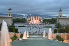 Square of Spain in Barcelona. Stock Photo