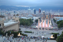 Square of Spain in Barcelona. Stock Images