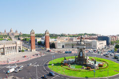Square of Spain, Barcelona royalty free stock photo