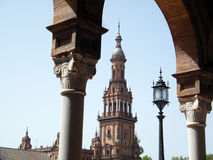 Square of spain in seville Royalty Free Stock Photo