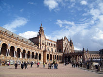 Square of spain in seville Stock Photos