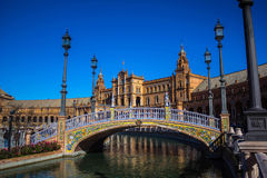 Square of Spain in Seville, Spain stock photos