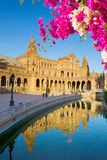 Square of Spain in Seville, Spain Stock Photo