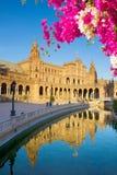 Square of Spain in Seville, Spain Stock Photo