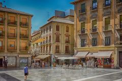 Square in Spain town Granada. Spain town Granada and its square Stock Photography