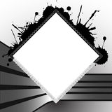 Square splats template. With stripes for design, abstract vector art illustration Stock Photo