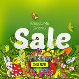 Square Spring sale banner Stock Photos