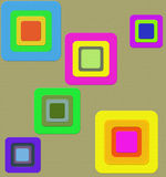 Square within square. Different colour square additional format Vector Illustration