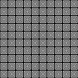 Square in square tile seamless pattern Stock Photo