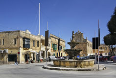Square of St. Francis in Victoria. Cultural center. Gozo island. Malta Stock Photography