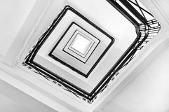 Square staircase perspective Stock Images