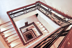 Square staircase perspective Royalty Free Stock Images