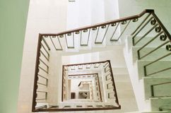 Square staircase perspective, view from above Stock Image