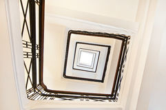 Square staircase perspective Royalty Free Stock Image