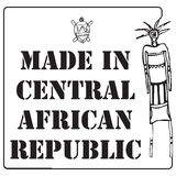 Square stamp imprint made in Central African Republic Royalty Free Stock Photo