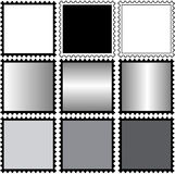 Square Stamps blanco Stock Photography