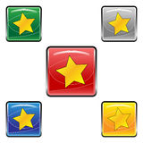 Square star buttons Stock Photo