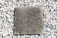 Square stepping stone Royalty Free Stock Image