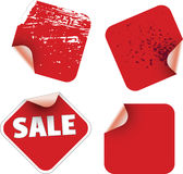 Square stickers Royalty Free Stock Photography