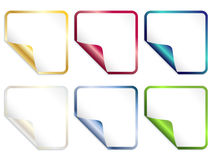 Square stickers. Set of square stickers vector illustration Stock Photo