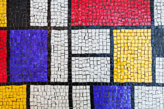 Square stone tiling mosaic, colorful background Royalty Free Stock Photo