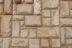Square Stone wall Stock Image