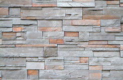 Square stone wall close up Stock Image