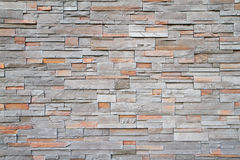 Square stone wall far Stock Image
