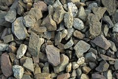Square stones. Gray square railroad stones texture Royalty Free Stock Photos