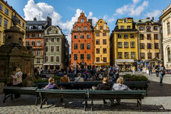 Square Stortorget in Gamla Stan in Stockholm.Sweden. Royalty Free Stock Photo