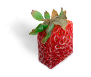 Square Strawberry. Isolated over white background Royalty Free Stock Photos