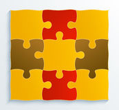Square structure pieces of puzzles, business conce Royalty Free Stock Photography