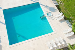 Square swimming pool. Royalty Free Stock Images