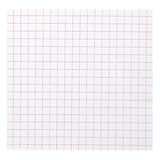 Square table stripe pattern on white paper background. Stock Photography