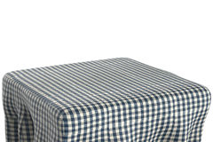 Square table with tablecloth Stock Photos