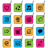 Square tag icons Stock Images