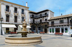 Square of Tarazona de la Mancha II Stock Images