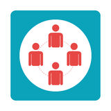 Square teamwork for bussines in meeting. Vector illustration Royalty Free Stock Images