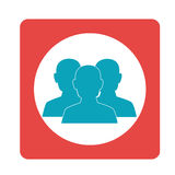 Square teamwork for bussines in meeting. Vector illustration Royalty Free Stock Photos