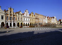 Square in Telc Royalty Free Stock Photography