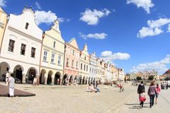 Square in Telc Royalty Free Stock Photo