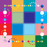 Square Template. Vector Illustration of colorful squares. Patchwork, sewing, beading, party or crafting background Royalty Free Stock Image