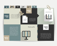 Square template chart. Royalty Free Stock Photos