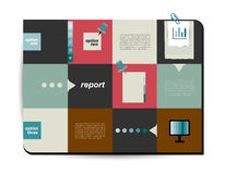 Square template diagram. Royalty Free Stock Photos