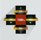 Square template diagram. Stock Image